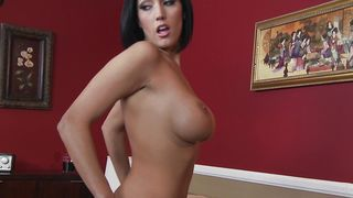 Delightful busty Dylan Ryder is getting her tang eaten before riding wang