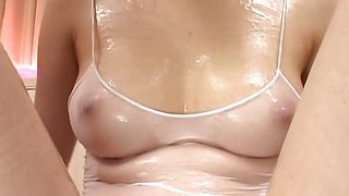 Fascinating Kasumi Uehara with massive tits has her taco expertly played with