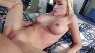 Slutty darling Madison Scott with curvy tits has big penis in her gaping poon tang