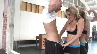 Tasty blonde Courtney Cummz with huge tits getting her lovebox knocked the fuck out