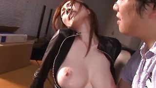 Extraordinary busty redhead JULIA likes to have hardcore sex every single day