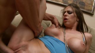 Amazing busty Rachel RoXXX is excited about riding big love rocketed stud