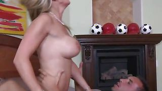 Charming honey Tanya Tate with firm tits is enjoying every inch of this dong