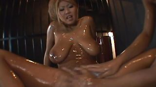 Hot-tempered busty honey Rui Akikawa and a man are fucking like crazy instead of getting ready for work