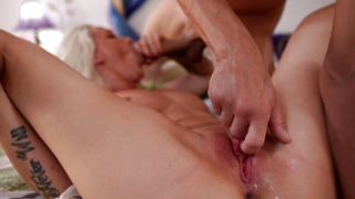 It is the very first fucker magnificent busty blonde Stevie Shae getting fucked