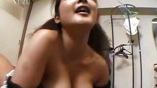 Savory Yui Tokui with firm tits spreads her legs and gets cherry licked