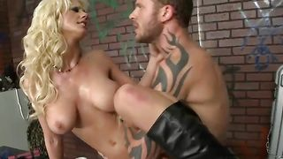 Tempting lady Tanya James with large tits is getting fucked during the day