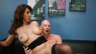 Aroused latin minx Isis Love with curvy tits is in heaven while sitting on buddy's rod