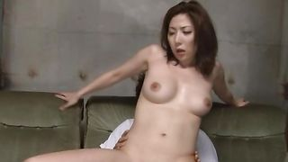 Prurient Mirei Yokoyama with large tits likes to feel something hard in her soft vagina