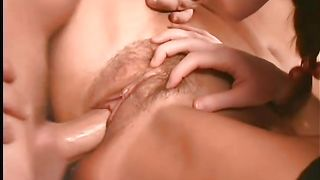 Sweet girl Rebecca Bardoux with big natural tits sucks a throbbing penis