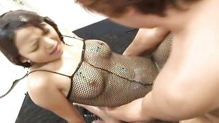 Voluptous gf Miyo Kasuge with impressive tits can handle that giant chopper