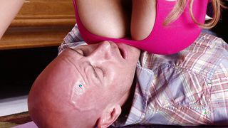 Wicked blonde sweetheart Athena Pleasures with great natural tits and bf are having a great time together all day long
