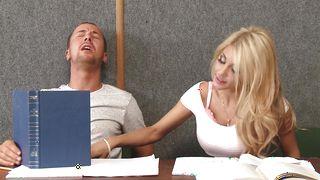 Hot busty blonde beauty Kayla Kayden is fucking fucker and enjoying it a lot