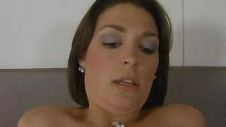 Passionate brunette Charlie James with curvy natural tits is ready for some intense and wild action
