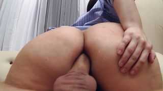 Startling busty gal Mackenzee Pierce is loudly moaning while riding a big hard dick