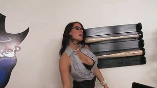 Stunning busty brunette minx Savannah Stern and stranger are fucking like wild animals and enjoying it a lot