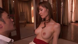 Staggering busty Yuna Hayashi is ready for a perfect fuck session with dude