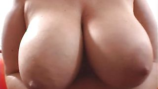 Admirable redhead Eden with curvy natural tits gives a blowjob while relaxing