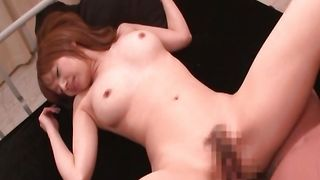 Raunchy Akina Ishiki with impressive tits enjoys a plowing lad gave her