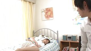 Stunning busty minx Mikan Kururugi getting her poontang drilled down