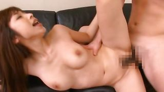 Enchanting gf Mika Kayama with round tits is getting a cooter massage the way she always wanted it