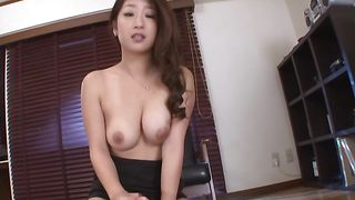 Pretty busty Satomi Suzuki is having casual sex with a guy and enjoying it a lot