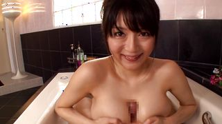 Savory busty floosy Miho Ichiki gets amazed to ride on big massive shlong
