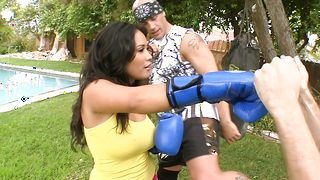 Goluptious idol Jessica Bangkok with large natural tits and mate are fucking every once in a while just for fun