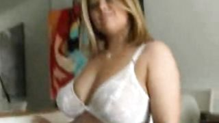 Wicked blonde Missy with large natural tits goes crazy for that dong
