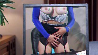 Sex appeal busty blonde Sarah Vandella enjoys having her poon tang drilled hard