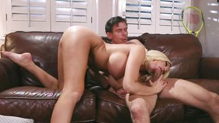 This slim jim might be too big for goluptious busty blonde Summer Brielle