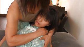 Dissolute cutie Hana Haruna with big tits enjoys riding a pulsating and hard pipe