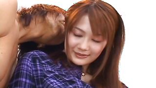 Mouthwatering Erika Kirihara with firm tits is an expert in riding hard peckers