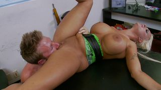 Shameless Holly Halston with big tits and mate and wildly
