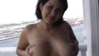 Angelic latin brunette lady Helen with large tits deepthroats and fucks her playmate