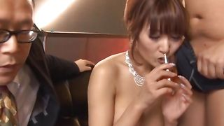 Wanton chick Kirara Asuka with massive tits is stunning and her juicy pie is wet