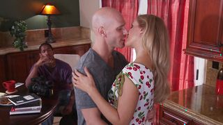 Magical busty Julia Ann swallows giant meat passionately
