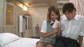 Nasty busty Chika Kitano has a smile on her face while being plowed