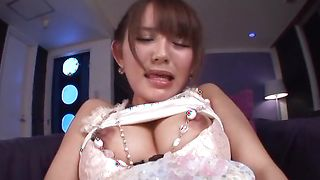 Prurient busty Emiri Okazaki can fuck any buddy she wants because she knows how to seduce them