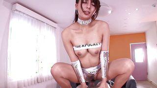 Captivating busty diva Jessica Kizaki and playmate are having sex