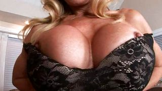 Tempting blonde Amber Lynn with big tits is might be easily seduced