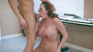 Racy busty brunette maid Ariella Ferrera gladly bends over to be fucked