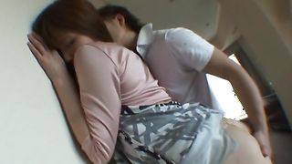 Aphrodisiac gf Yuki Heiwajima with great tits and mate have wild sex