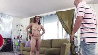 Playsome Lana Sky with large natural tits and buddy are about to get to know each other quite good