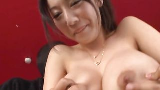 Ripped pal enjoys getting ridden by a extraordinary bimbo Miki Ichiki with large tits