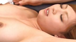 Marvelous babe Aya Hasegawa with firm tits rides rock solid penis wildly