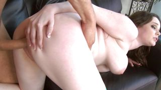 Overwhelming brunette Tessa Lane with impressive natural tits getting her wet poon tang destroyed during the hot fuck