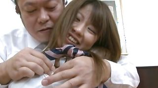 Glamor Miho Imamura with huge tits receives a huge donga in her snatch