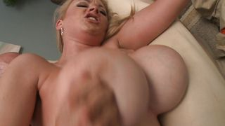 Filthy Katie Kox with impressive tits spreads her legs for sex
