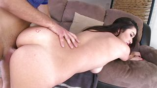Salacious bombshell Karlee Grey with firm natural tits and adores riding a huge dinky